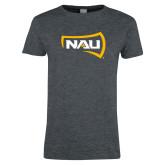 Ladies Dark Heather T Shirt-NAU Primary Mark