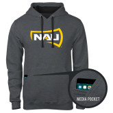 Contemporary Sofspun Charcoal Heather Hoodie-NAU Primary Mark