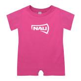 Bubble Gum Pink Infant Romper-NAU Primary Mark