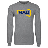 Grey Long Sleeve T Shirt-NAU Primary Mark