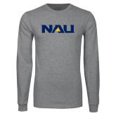 Grey Long Sleeve T Shirt-NAU