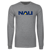 Grey Long Sleeve T Shirt-NAU Distressed