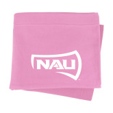 Pink Sweatshirt Blanket-NAU Primary Mark