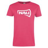 Ladies Fuchsia T Shirt-NAU Primary Mark