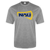 Performance Grey Heather Contender Tee-NAU Primary Mark