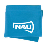 Light Blue Sweatshirt Blanket-NAU Primary Mark
