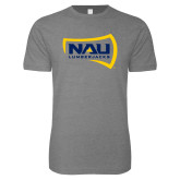 Next Level SoftStyle Heather Grey T Shirt-NAU Lumberjacks