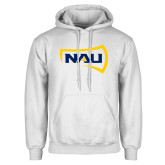 White Fleece Hoodie-NAU Primary Mark