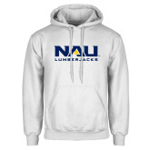White Fleece Hoodie-NAU Lumberjacks Stacked