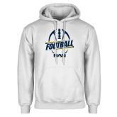 White Fleece Hoodie-Football Design