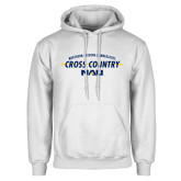 White Fleece Hoodie-Cross Country Arrow Design