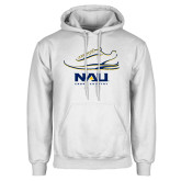 White Fleece Hoodie-Cross Country Shoe Design