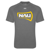 Under Armour Carbon Heather Tech Tee-NAU Lumberjacks