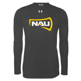 Under Armour Carbon Heather Long Sleeve Tech Tee-NAU Primary Mark
