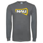 Charcoal Long Sleeve T Shirt-NAU Primary Mark