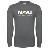 Charcoal Long Sleeve T Shirt-NAU Lumberjacks Stacked