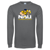 Charcoal Long Sleeve T Shirt-NAU Lumberjacks with Louie