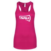 Next Level Ladies Raspberry Ideal Racerback Tank-NAU Primary Mark