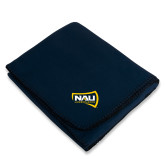Navy Arctic Fleece Blanket-NAU Lumberjacks