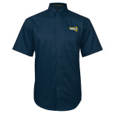 Navy Twill Button Down Short Sleeve-NAU Primary Mark