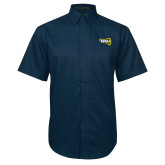 Navy Twill Button Down Short Sleeve-NAU Lumberjacks