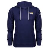 Adidas Climawarm Navy Team Issue Hoodie-NAU Primary Mark