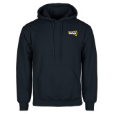 Navy Fleece Hoodie-NAU Primary Mark
