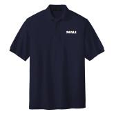Navy Easycare Pique Polo-NAU