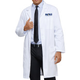 Mens White Lab Coat-NAU Lumberjacks Stacked