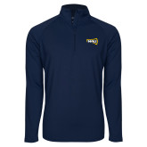Sport Wick Stretch Navy 1/2 Zip Pullover-NAU Primary Mark