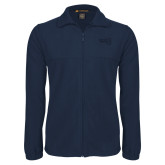 Fleece Full Zip Navy Jacket-NAU Primary Mark