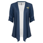 Ladies Navy Drape Front Cardigan-NAU Primary Mark