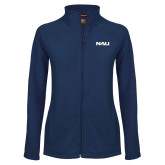 Ladies Fleece Full Zip Navy Jacket-NAU