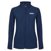 Ladies Fleece Full Zip Navy Jacket-NAU