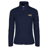 Columbia Ladies Full Zip Navy Fleece Jacket-NAU Primary Mark