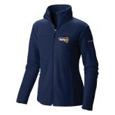 Columbia Ladies Full Zip Navy Fleece Jacket-NAU Primary Mark