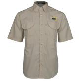 Khaki Short Sleeve Performance Fishing Shirt-NAU Lumberjacks
