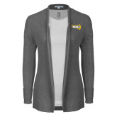 Ladies Heather Grey Open Front Cardigan-NAU Primary Mark