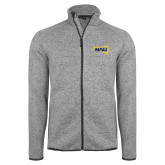 Grey Heather Fleece Jacket-NAU Primary Mark
