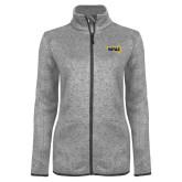 Grey Heather Ladies Fleece Jacket-NAU Primary Mark