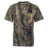 Realtree Camo T Shirt w/Pocket-NAU Primary Mark