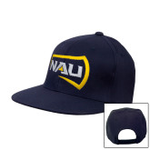 Navy Flat Bill Snapback Hat-NAU Primary Mark