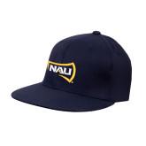 Navy Flat Bill Snapback Hat-NAU Primary Mark