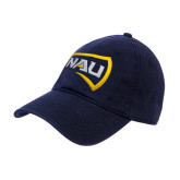 Navy Twill Unstructured Low Profile Hat-NAU Primary Mark