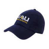 Navy Twill Unstructured Low Profile Hat-NAU Lumberjacks Stacked