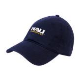 Navy Twill Unstructured Low Profile Hat-NAU Lumberjacks Stacked