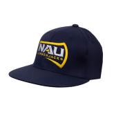 Navy OttoFlex Flat Bill Pro Style Hat-NAU Lumberjacks