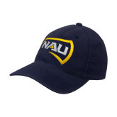 Navy OttoFlex Unstructured Low Profile Hat-NAU Primary Mark