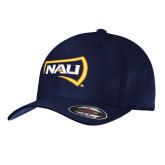 Navy Flexfit Structured Low Profile Hat-NAU Primary Mark
