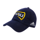 Adidas Navy Slouch Unstructured Low Profile Hat-NAU Primary Mark